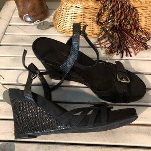 Aerosoles Shoes   New Aerosole Black Wedge 11